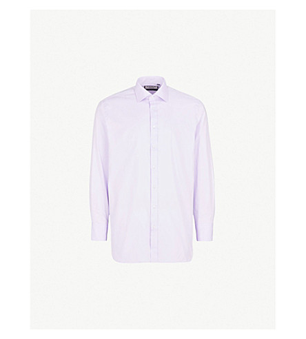 THOMAS PINK Arthur classic-fit cotton-twill shirt (Lilac