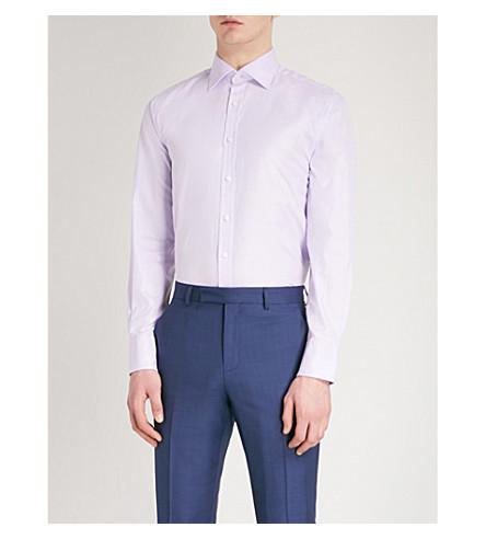 THOMAS PINK Arthur classic-fit cotton-twill shirt (Lilac