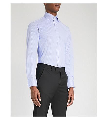 THOMAS PINK Grant classic-fit cotton shirt (Pale+blue/white