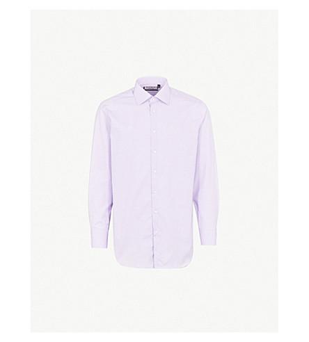 THOMAS PINK Brummel checked classic-fit cotton shirt (Lilac/purple