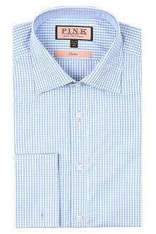 THOMAS PINK Gingham classic-fit double-cuff shirt