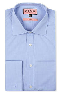 THOMAS PINK Houndstooth classic-fit double-cuff shirt