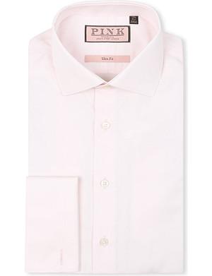 THOMAS PINK Slim-fit double-cuff shirt