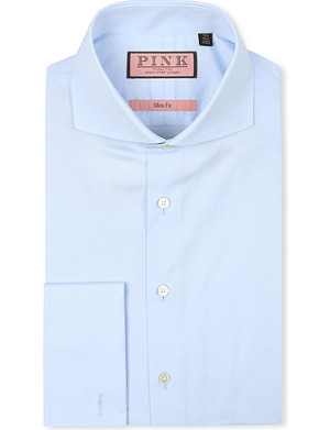 THOMAS PINK Slim-fit double-cuff shirt