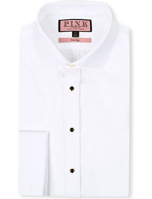 THOMAS PINK Marcella super slim-fit double-cuff evening shirt
