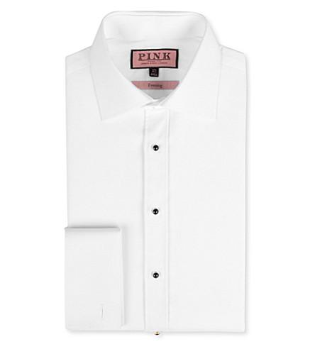THOMAS PINK Marcella slim-fit cotton-poplin shirt (White