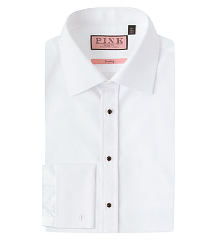 THOMAS PINK Marcella evening slim-fit cotton shirt (White