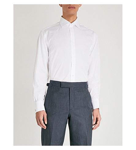 THOMAS PINK Edric cotton-poplin shirt (White