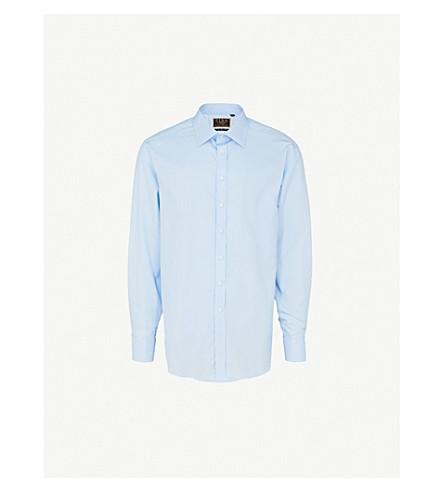 THOMAS PINK Edwin slim-fit cotton shirt (Pale+blue