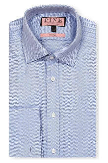 THOMAS PINK Ronan classic-fit double-cuff Prestige shirt