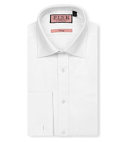 THOMAS PINK Ronan classic-fit double-cuff Prestige shirt (White