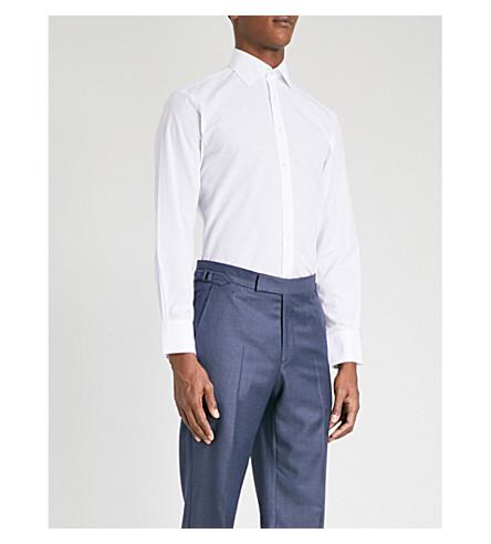 THOMAS PINK 查尔斯棉衬衫 (白色