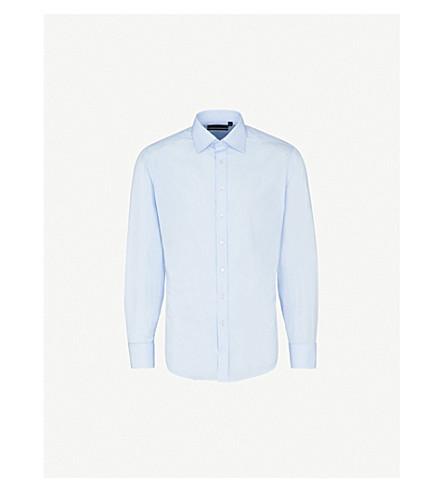 THOMAS PINK Earnest cotton-poplin shirt (Pale+blue