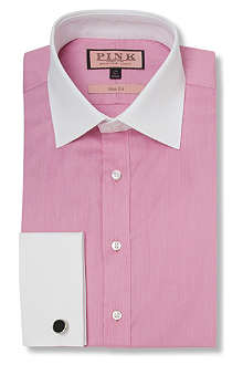 THOMAS PINK Bishop slim fit double cuff shirt