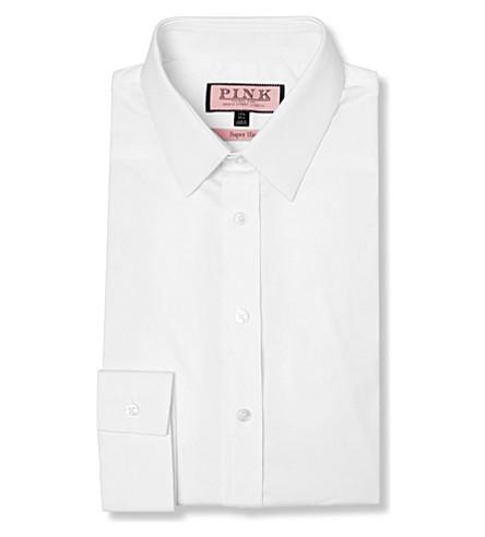 THOMAS PINK Freddie super slim fit single cuff shirt (White