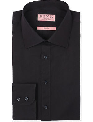 THOMAS PINK Quintessential slim-fit double-cuff shirt