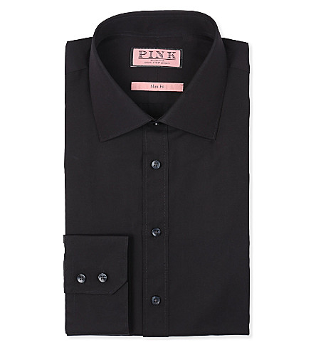 THOMAS PINK Quintessential slim-fit single-cuff shirt (Black