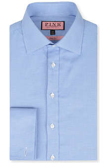 THOMAS PINK Slim-fit double-cuff Oxford shirt