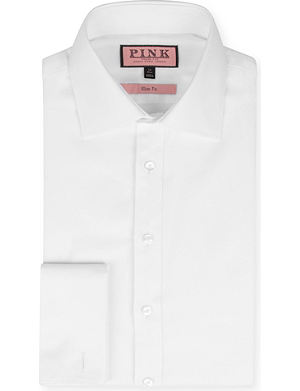 THOMAS PINK Royal Oxford slim-fit double-cuff shirt
