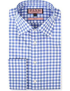 THOMAS PINK Coddenham slim-fit double-cuff evening shirt