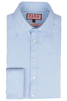 THOMAS PINK Slim-fit single-cuff textured shirt