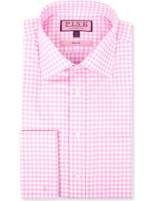 THOMAS PINK Slim-fit double-cuff evening shirt