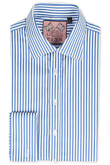 THOMAS PINK Algernon slim-fit double-cuff shirt