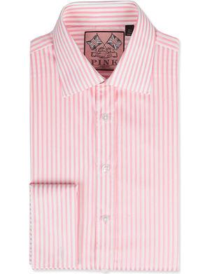 THOMAS PINK Algernon slim-fit double-cuff shirt