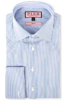 THOMAS PINK Douall slim-fit double-cuff shirt