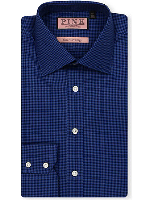 THOMAS PINK Battier slim-fit double-cuff Prestige shirt