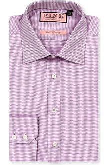 THOMAS PINK Dorche slim-fit double-cuff shirt