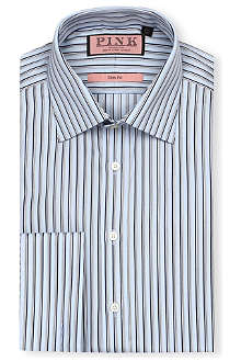 THOMAS PINK Weaver slim-fit double-cuff shirt