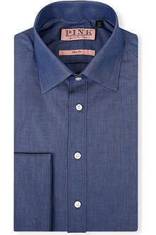 THOMAS PINK Vectra slim-fit double-cuff shirt