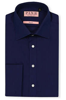 THOMAS PINK Vectra plain slim-fit double-cuff shirt