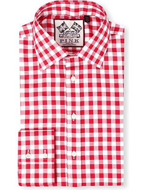 THOMAS PINK Plato single-cuff gingham shirt