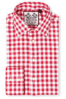 THOMAS PINK Plato single-cuff gingham shirt