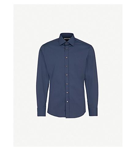 THOMAS PINK Crossland athletic-fit cotton shirt (Navy