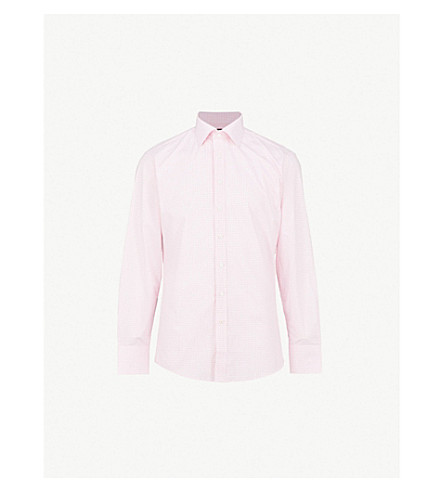 THOMAS PINK Greenwood cotton-poplin shirt (White/pink