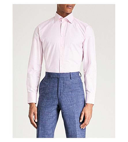 THOMAS PINK Greenwood cotton-poplin shirt (White/pink
