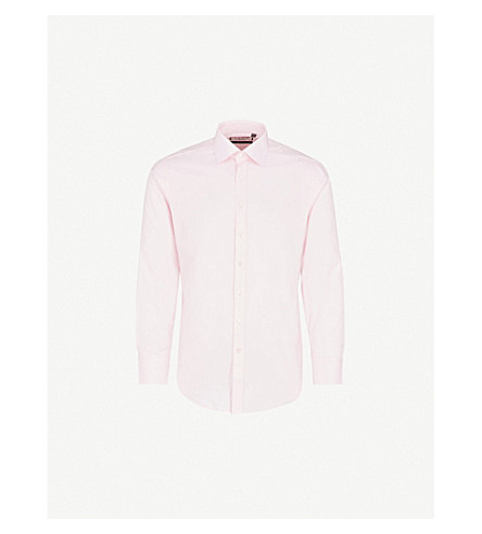 THOMAS PINK Arthur slim-fit cotton shirt (Pink