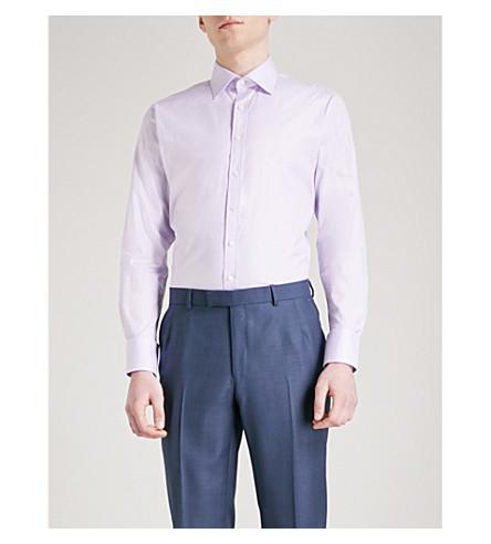 THOMAS PINK Arthur slim-fit cotton shirt (Lilac