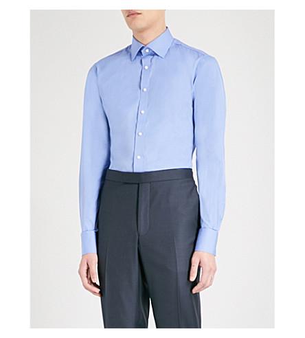 THOMAS PINK 修身版型棉府绸衬衫 (蓝色
