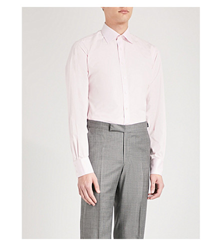 THOMAS PINK Frederick slim-fit cotton-poplin shirt (Pink