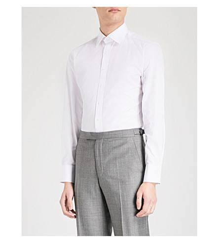 THOMAS PINK Frederick slim-fit cotton shirt (White