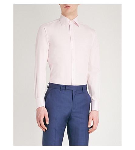THOMAS PINK Frederick slim-fit cotton-poplin shirt (Pink