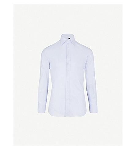 THOMAS PINK Winston cotton shirt (Pale+blue