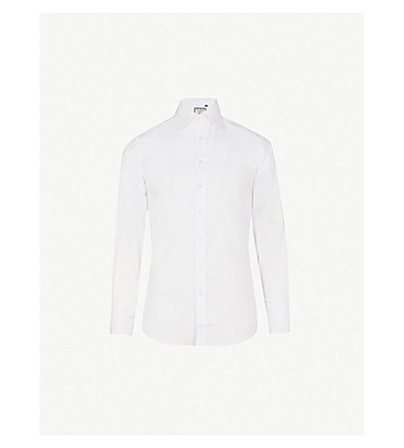 THOMAS PINK Winston plain slim fit bc shirt (White