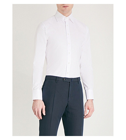 THOMAS PINK Winston plain slim fit bc shirt (White