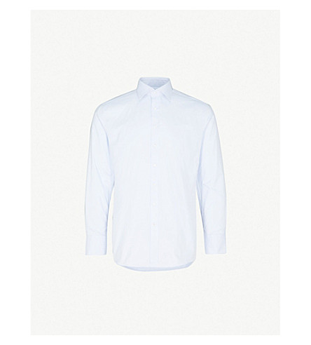 THOMAS PINK Arthur slim-fit cotton-twill shirt (Blue