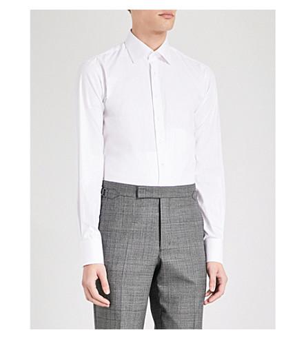 THOMAS PINK Arthur slim-fit cotton-twill shirt (White